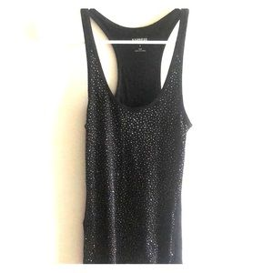 EXPRESS black sequin tank top (size small)
